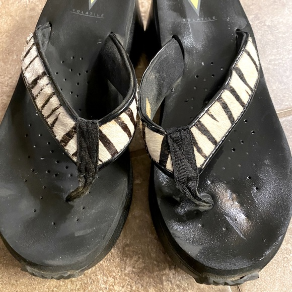 Volatile zebra print sandals